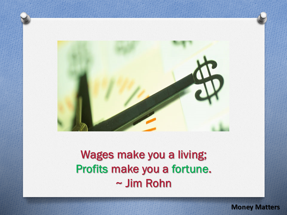 Wages make you a living