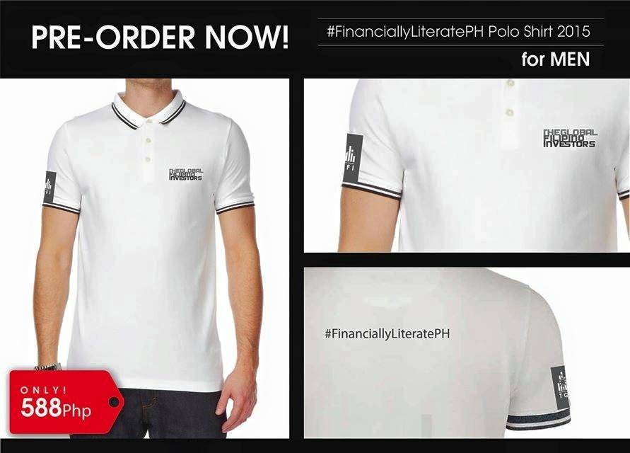 #FinanciallyLiteratePH polo shirt_men_white
