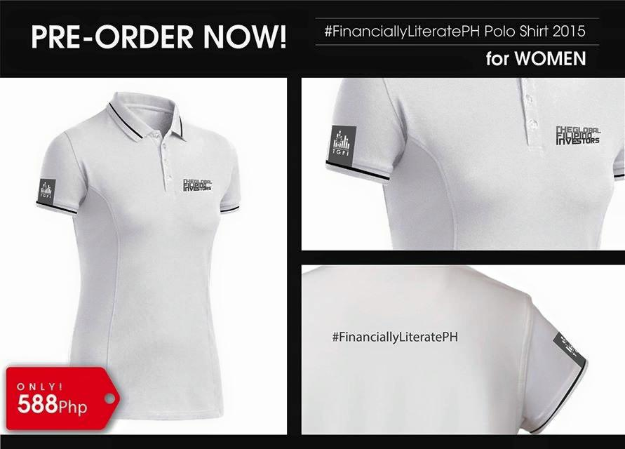 #FinanciallyLiteratePH polo shirt_women_white