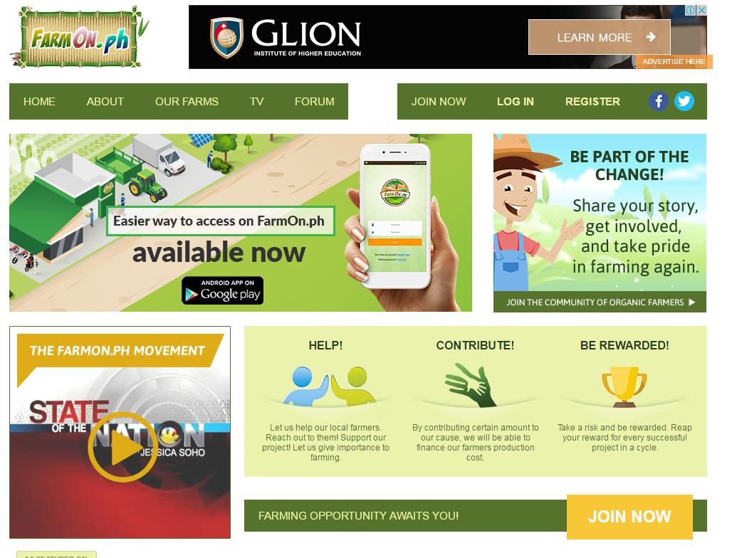 FarmOn website